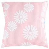 EOLINS Bantal Sofa Motif Bunga Celia [JSPS029] - Pink Cream - Bantal Dekorasi